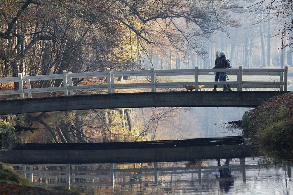 Bruggetjes over waterpartijen op landgoed Groeneveld. Foto Studio Kastermans