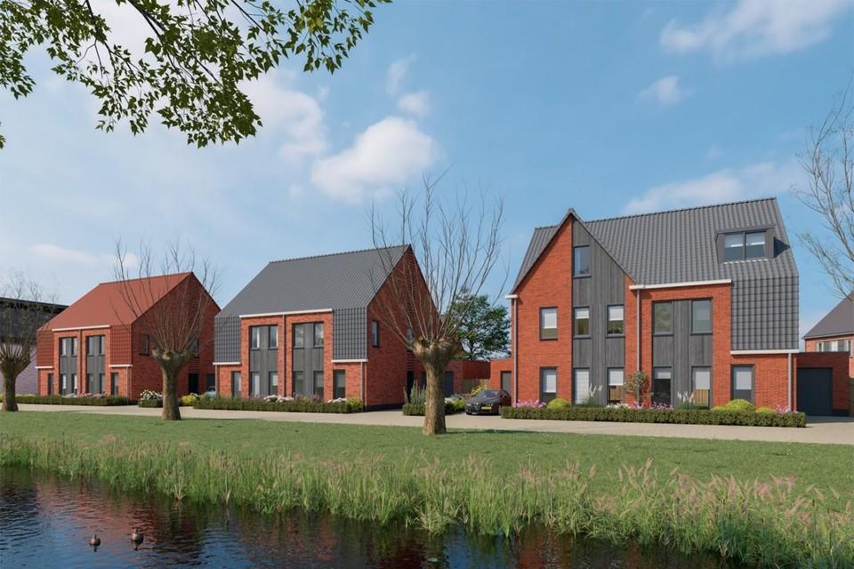 Een impressie van woningen in project De Zangvogel.