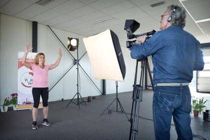 Gymnastiek voor senioren op lokale omroep RTV Seaport
