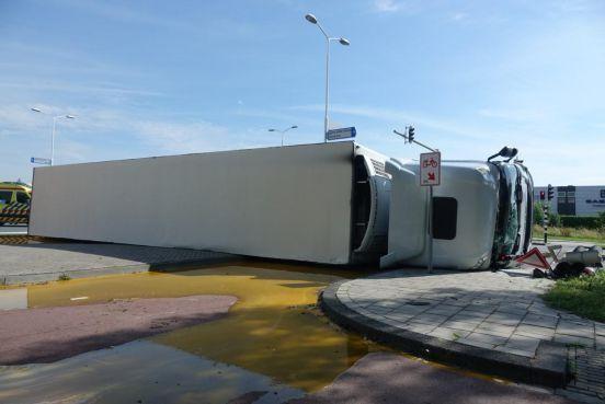 Godsgeschenk dat op de plek van het eigeel-ongeval aan de Oostergouw in Zwaag geen fietser stond