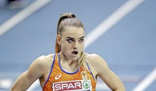 Castricumse atlete Lisanne de Witte liep tijdens het EK indoor corona op: 'Keelpijn, hoofdpijn, brandende ogen, ontzettende vermoeidheid; ik heb er allemaal last van gehad'