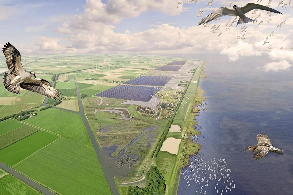 In het gebied Wieringerhoek komen mogelijk zonne-atollen.