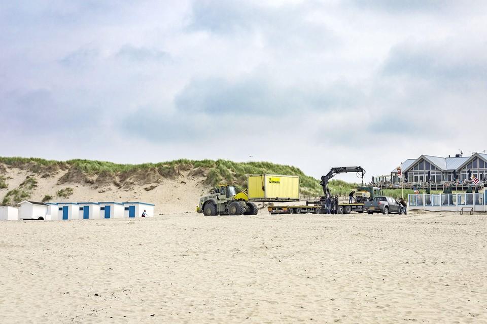 Paal 9 was het laatste strandgedeelte waar zandsuppletie plaatsvond.