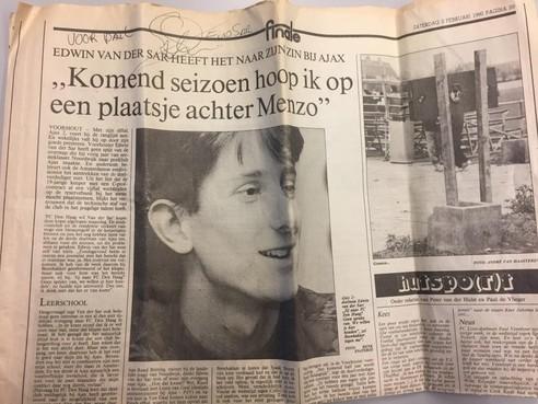 Edwin van der Sar: bloednerveus voor een van zijn eerste interviews als jong keeperstalent