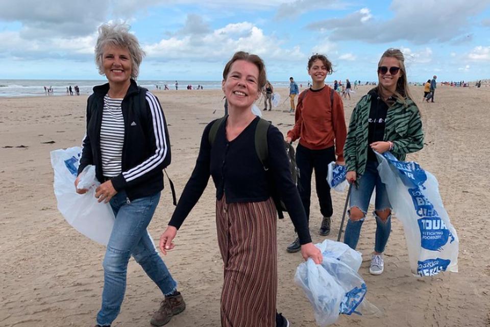 Enthousiasme in Egmond bij de jongste actie in 2019.