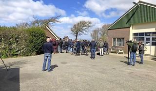 Heel vogelend Nederland wil de Sardijnse grasmus zien die in de duinen van Den Helder is gesignaleerd. 'Het leek wel een invasie van paparazzi' [video]