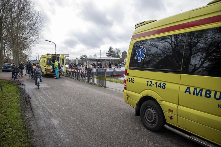 Twee gewonden bij ongeval pont in Haarlem
