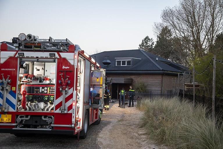 Brand bij restaurant Duinpaviljoen de Uitkijk in Bloemendaal