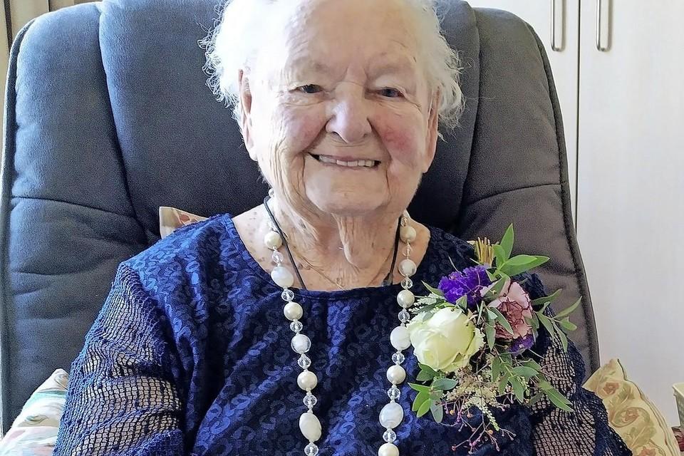 Mevrouw Reijers op haar laatste verjaardag, vorige maand.