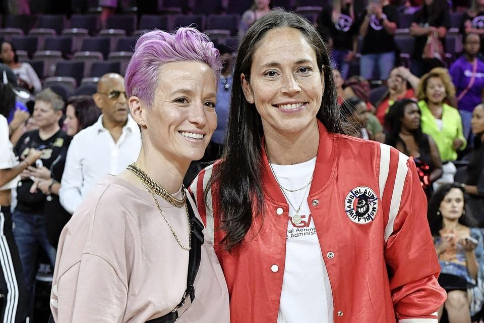 Megan Rapinoe en Sue Bird, een setje dat goed is voor vijf gouden medailles.
