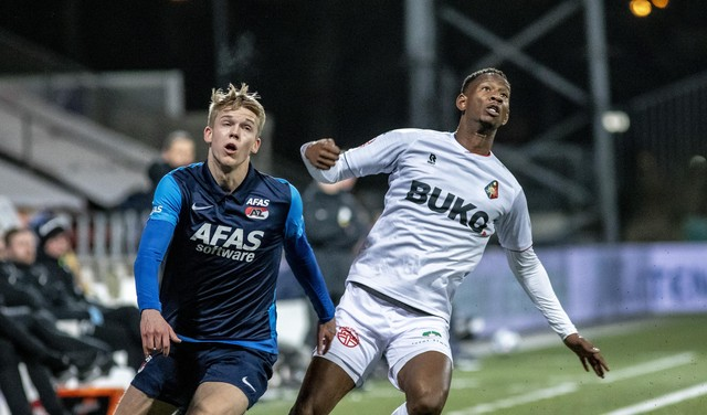 Telstar-aanvoerder Frank Korpershoek had hele week al het gevoel dat hij zou gaan scoren en doet dat tegen Jong AZ: 'Soms heb je dat gewoon'