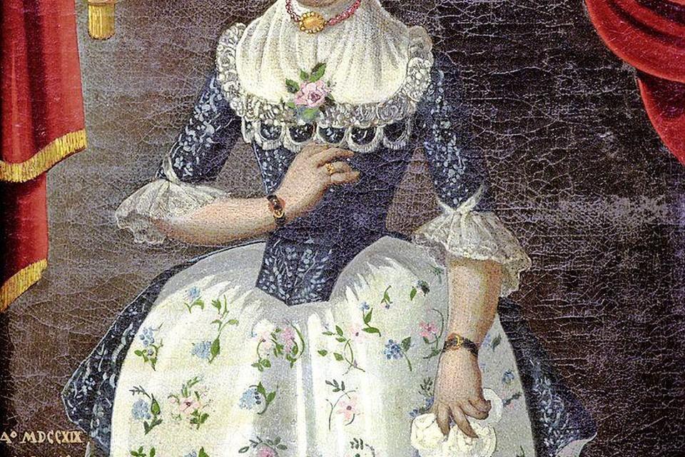 Zo moet Aagje eruit hebben gezien toen zij in 1776 met haar Harmanus trouwde.