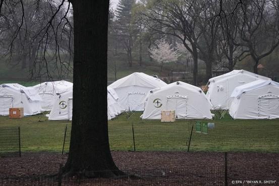 Noodhospitaal in Central Park voor coronapatiënten New York