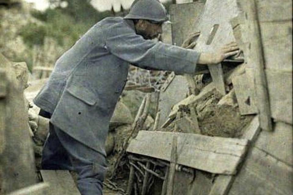 Franse soldaat tijdens WOI.