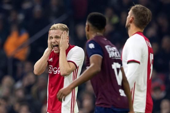 Ajax laat zich verrassen door sterk Willem II: 0-2