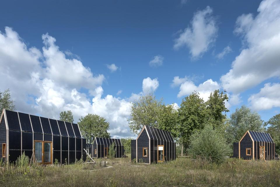 Enkele tiny houses in Haarlem.