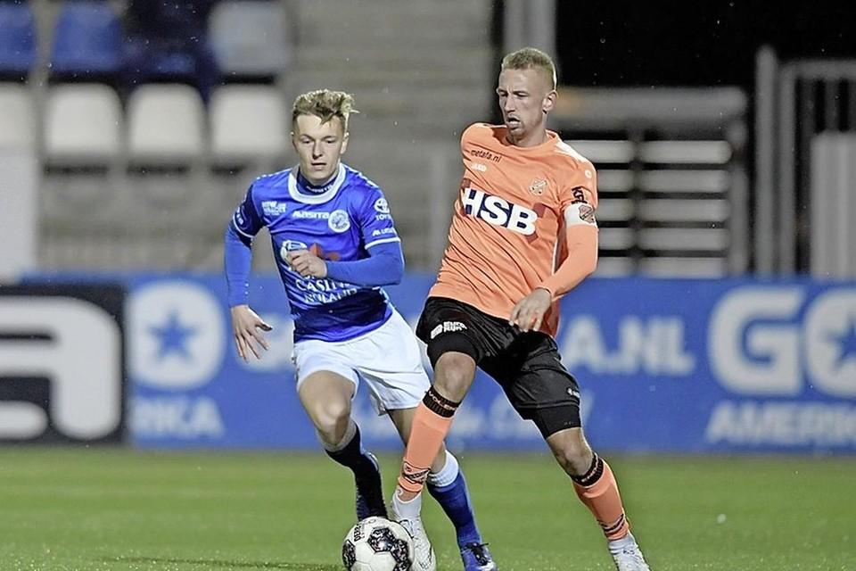 Kevin Visser maakte tegen Jong AZ na ruim een jaar blessureleed zijn rentree.