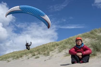 Vliegen op de wind bij Wijk aan Zee