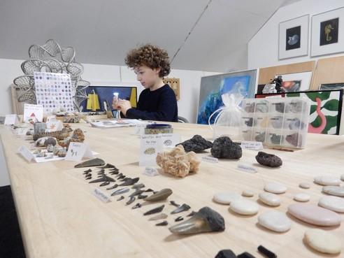 Nu zijn het steentjes, maar ook een verzameling zeemeerminjurken is gewoon welkom bij de Kunstuitleen van Den Helder