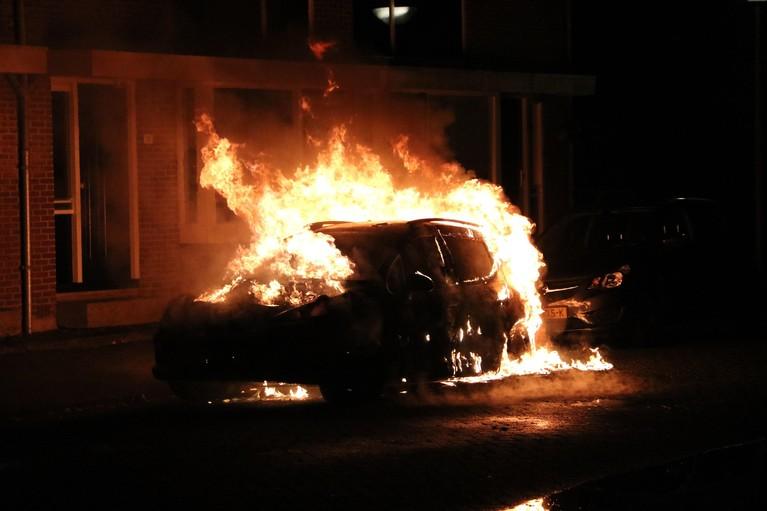 Auto uitgebrand in Den Helder