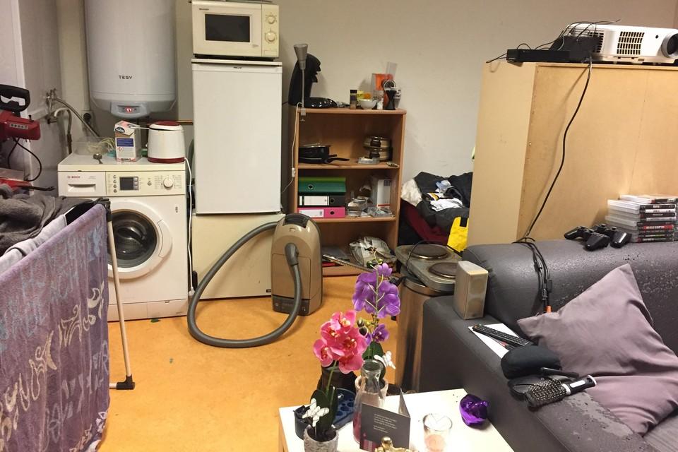 De studio van een van de Baanstee-bewoners.