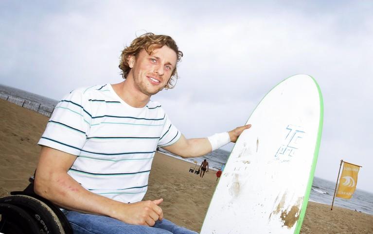 Willem Hooft kitesurft met dwarslaesie [video]