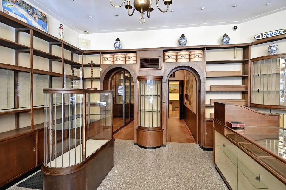 Het interieur van de voormalige sigarenwinkel Roks Cigars is volgens kenners uniek.