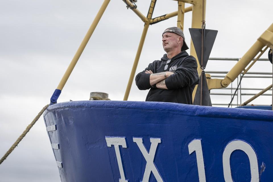 Frido Boom aan boord van de TX10.