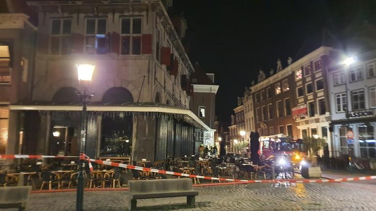 Brand bij Restaurant d'Oude Waegh in centrum van Hoorn