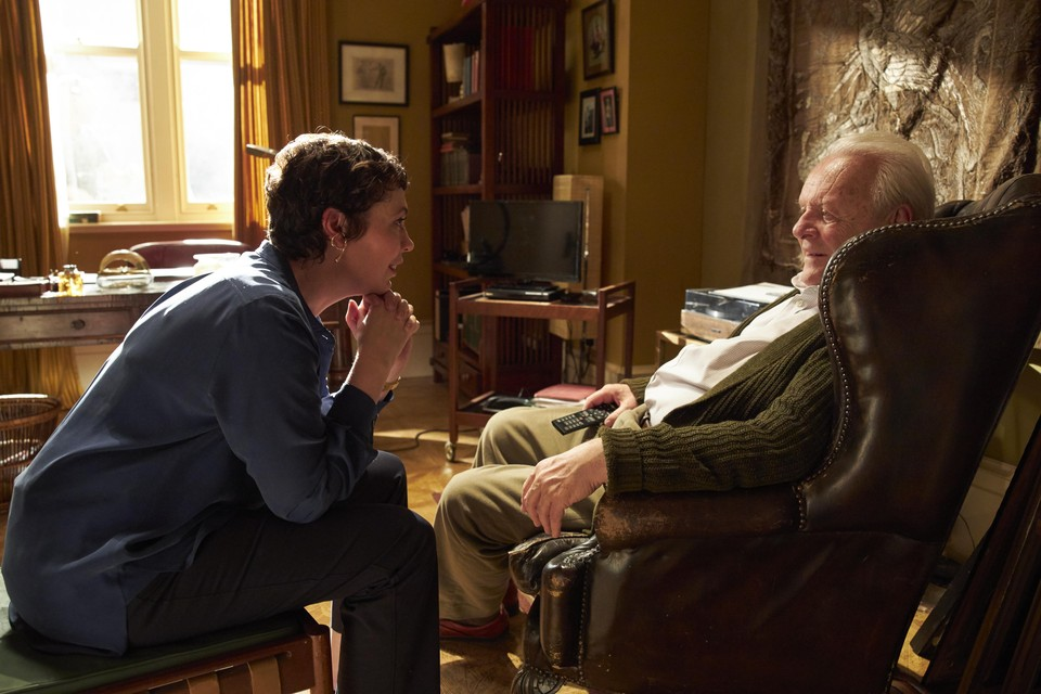 Olivia Colman en Anthony Hopkins in 'The father'.