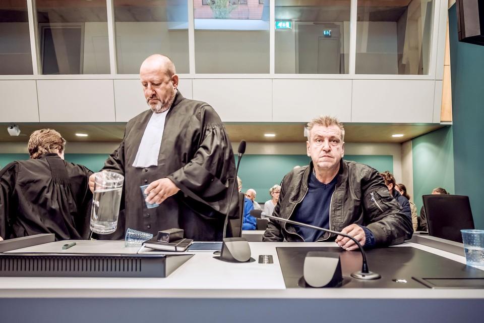 Rob Scholte en advocaat Benno Friedberg in de rechtbank.