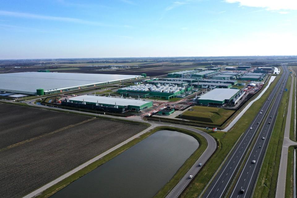 Het datacentrum van Microsoft in de Wieringermeer
