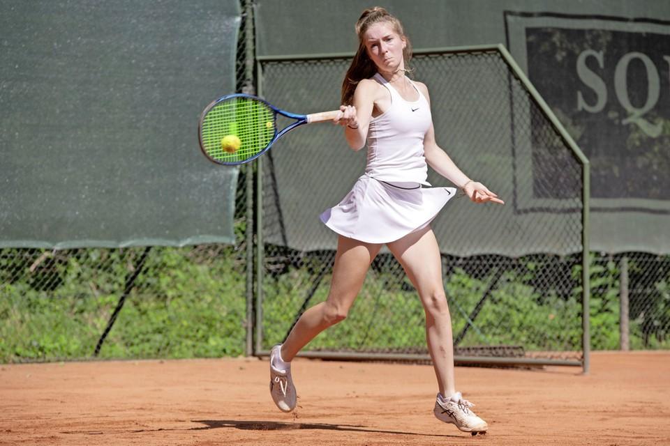 Hoewel de uitslag anders doet vermoeden, was de finale van Spieghel Open tegen Regina Balcune zeker geen walk-over voor Sarah Olff.