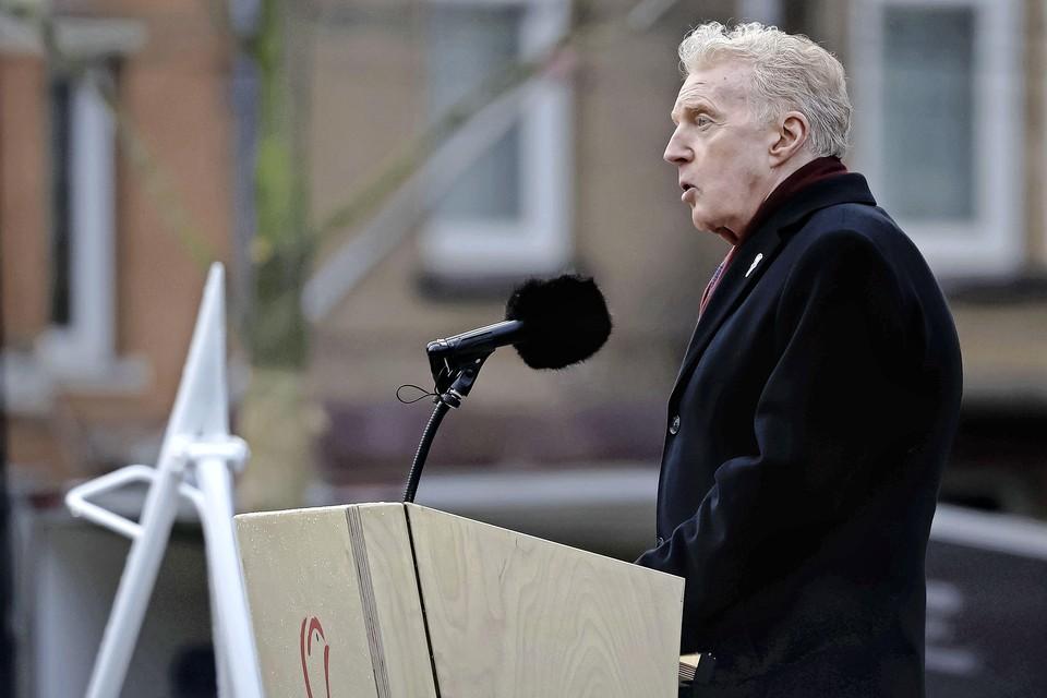 André van Duin houdt zijn toespraak tijdens de Nationale Dodenherdenking op de Dam.