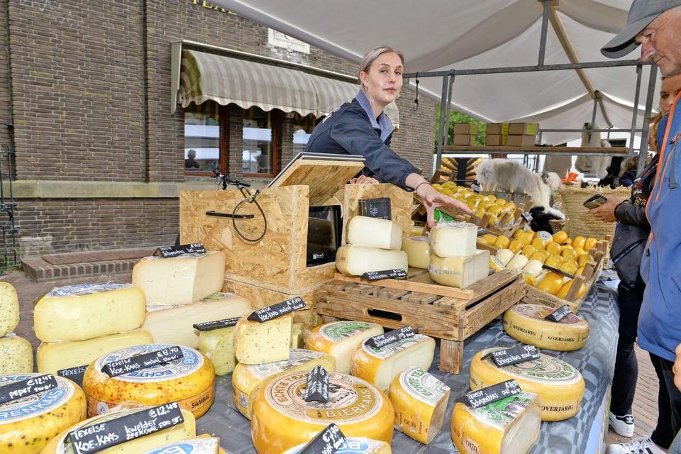 Kaas neemt een belangrijke plek in tussen de Texelse producten.
