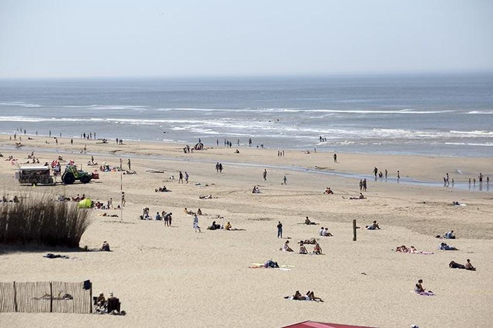 Genoeg ruimte nog op het strand zelf.