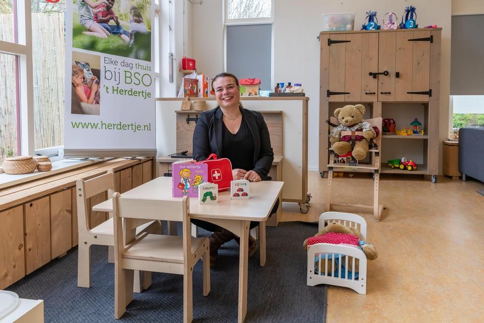 Leonie van 't Veer, directrice van 't Herdertje, bij kinderdagverblijf Honky Tonk in Zwaag.