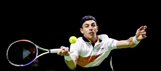 Venneper Tallon Griekspoor verbijt de pijn en maakt grandslamdebuut bij Australian Open