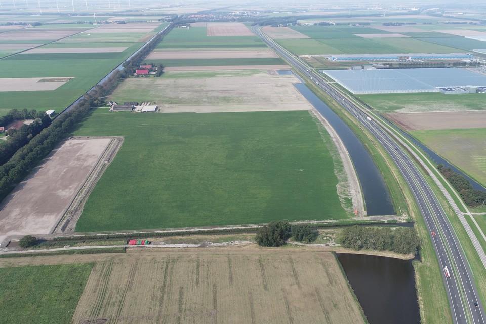 De plek van het vierde datacenter in de Wieringermeer, het voormalige land van Vijverberg.