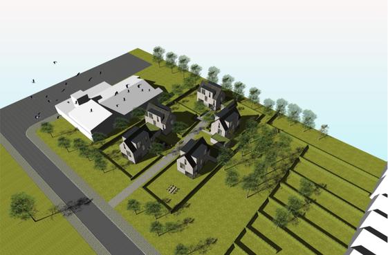 Vijf vrijstaande woningen aan Alkmaarse Overkrocht