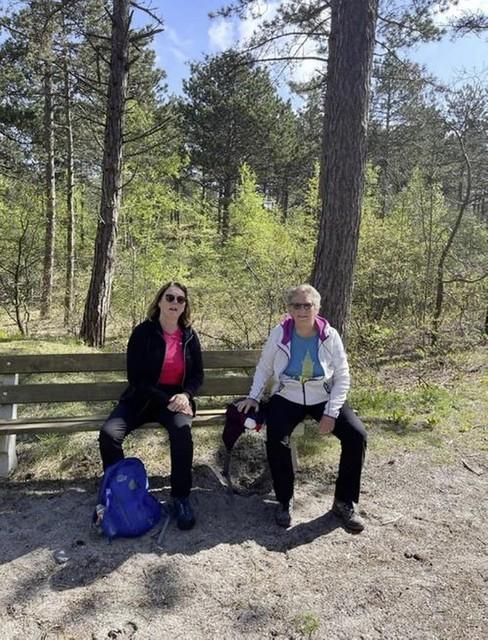 Deelnemers Hermien Roet (rechts) en Hildegard Groot-Boon.