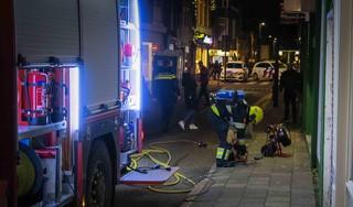 Brand in scooterwinkel in Beverwijk, brandweer is brand snel meester