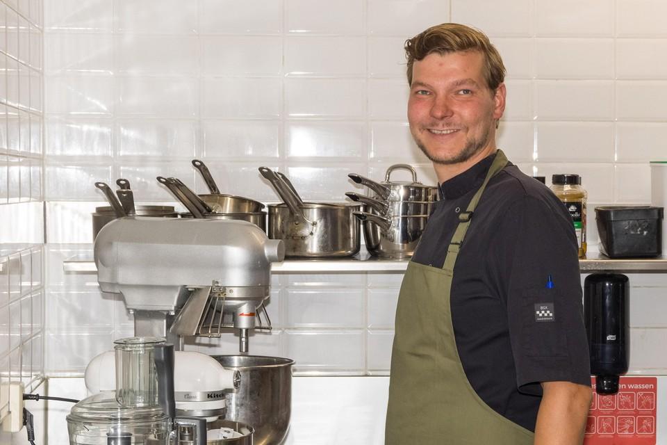 Edwin Sijm in de keuken van Lava.